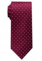 Eterna Krawatte dunkelrot getupft