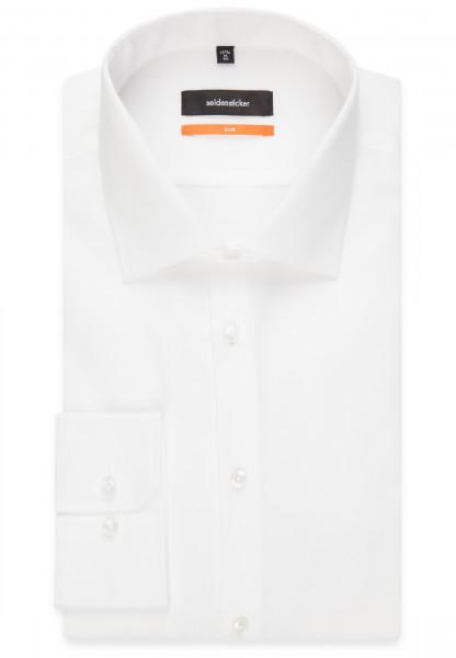 Seidensticker SLIM FIT Hemd ORIGINAL weiss mit Business Kent Kragen in schmaler Schnittform