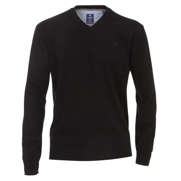 Redmond Pullover schwarz in klassischer Schnittform