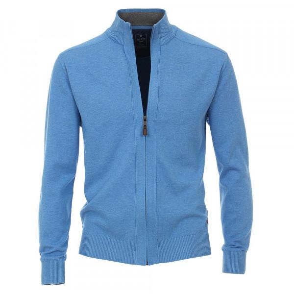 Redmond Strickjacke hellblau in klassischer Schnittform
