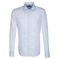 Seidensticker Hemd TAILORED UNI POPELINE hellblau mit Business Kent Kragen in moderner Schnittform