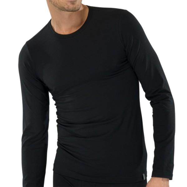 """Schiesser """"95/5"""" zwart T-Shirt"""
