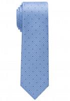 Eterna Krawatte hellblau getupft