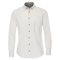 Redmond Hemd MODERN FIT UNI POPELINE grau mit Button Down Kragen in moderner Schnittform
