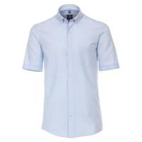 Redmond COMFORT FIT Hemd TWILL hellblau mit Button Down Kragen in klassischer Schnittform