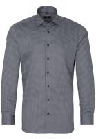 Eterna Hemd SLIM FIT PRINT schwarz mit Classic Kent Kragen in schmaler Schnittform