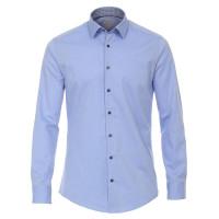 Redmond MODERN FIT Hemd UNI POPELINE hellblau mit Kent Kragen in moderner Schnittform