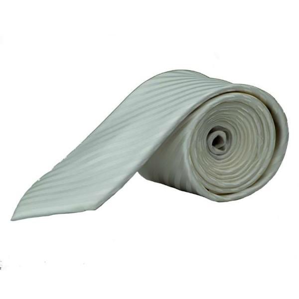 Olymp Krawatte weiß gestreift