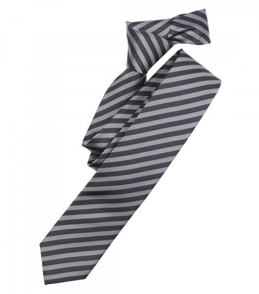 Venti Krawatte grau gestreift