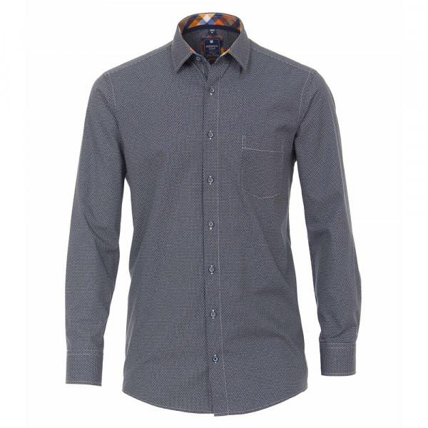 Redmond COMFORT FIT Hemd PRINT hellbraun mit Kent Kragen in klassischer Schnittform
