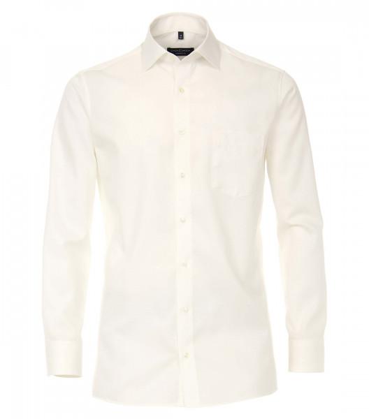 CASAMODA Hemd COMFORT FIT TWILL beige mit Kent Kragen in klassischer Schnittform