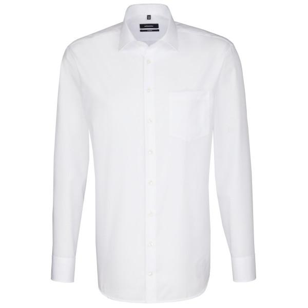 Seidensticker COMFORT Hemd UNI POPELINE weiss mit Business Kent Kragen in klassischer Schnittform