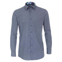 Redmond COMFORT FIT Hemd PRINT mittelblau mit Kent Kragen in klassischer Schnittform