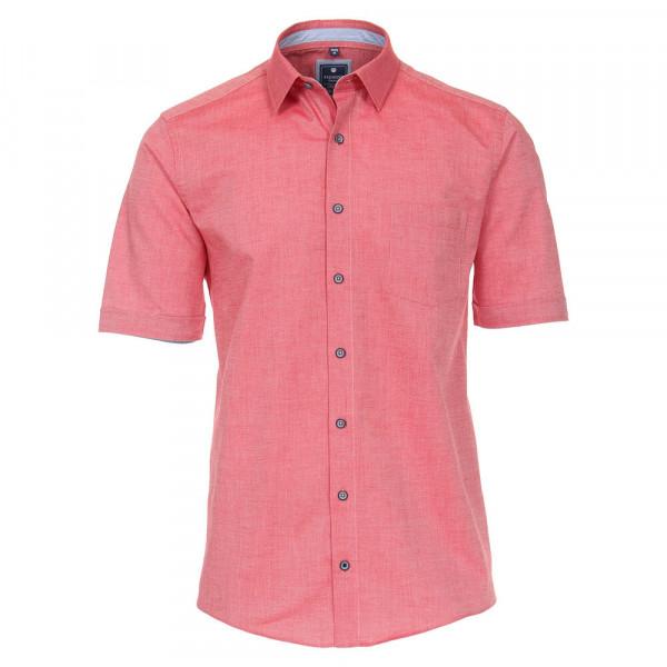 Redmond Hemd REGULAR FIT STRUKTUR rot mit Kent Kragen in klassischer Schnittform
