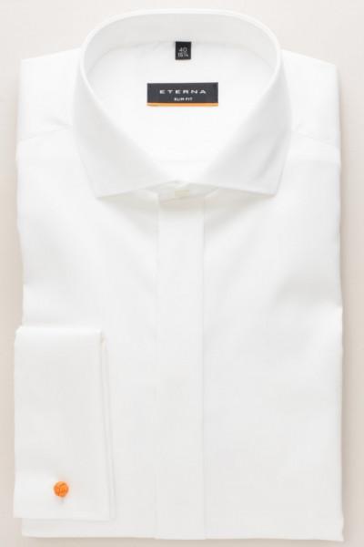 Eterna Hemd SLIM FIT TWILL beige mit Hai Kragen in schmaler Schnittform