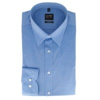 OLYMP Level Five body fit Hemd CHAMBRAY mittelblau mit New York Kent Kragen in schmaler Schnittform
