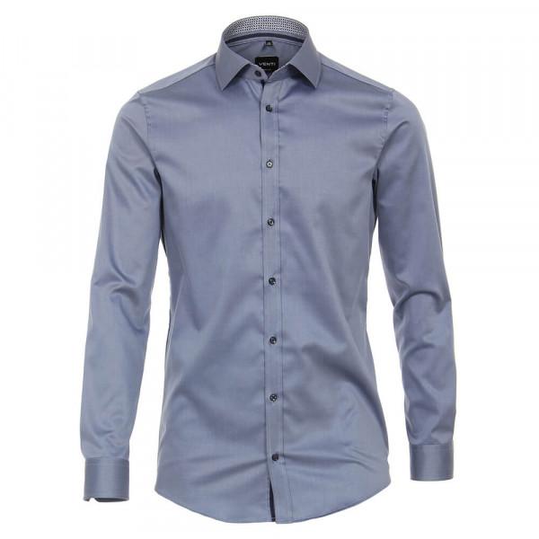Venti Hemd BODY FIT TWILL hellblau mit Kent Kragen in schmaler Schnittform