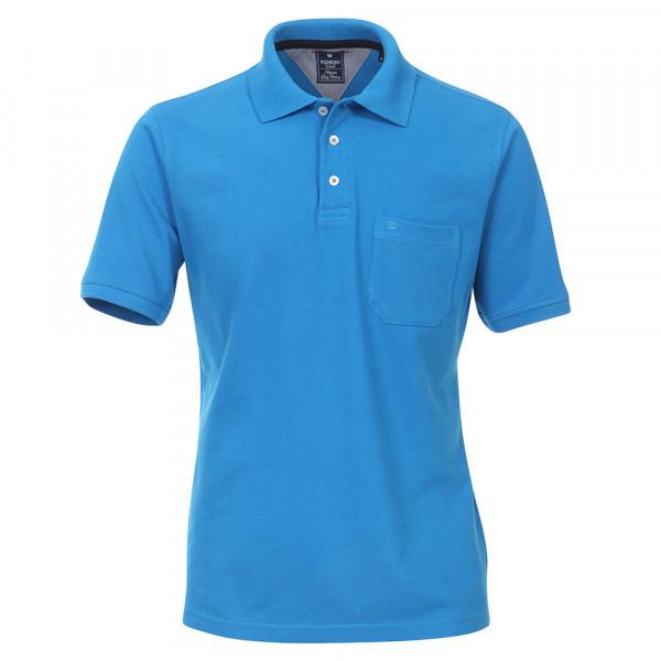 Redmond Poloshirt mittelblau in klassischer Schnittform