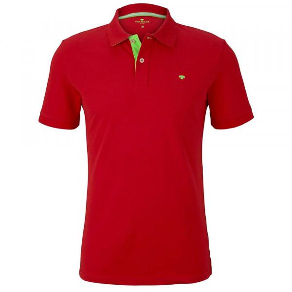 Tom Tailor Poloshirt rot in klassischer Schnittform