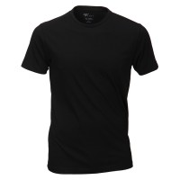 Venti T-Shirt in schwarz mit Rundhals im Doppelpack