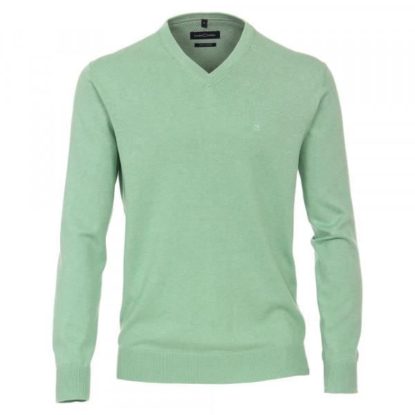 CASAMODA Pullover grün in klassischer Schnittform
