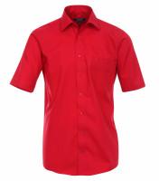 CASAMODA Hemd COMFORT FIT UNI POPELINE rot mit Kent Kragen in klassischer Schnittform