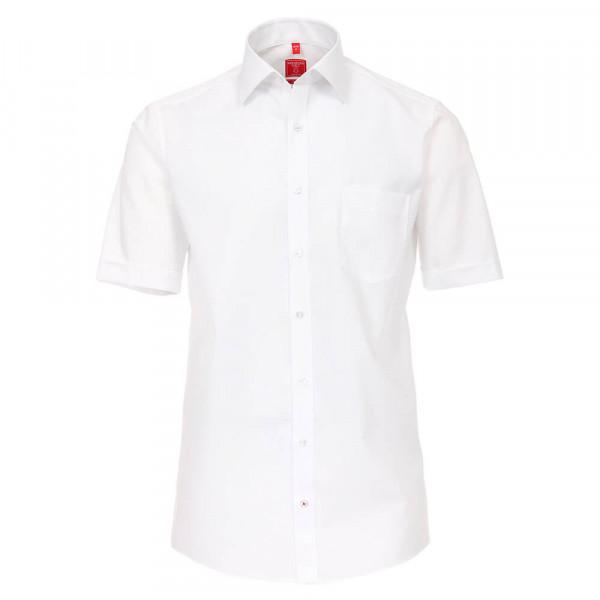 Redmond COMFORT FIT Hemd UNI POPELINE weiss mit Kent Kragen in klassischer Schnittform
