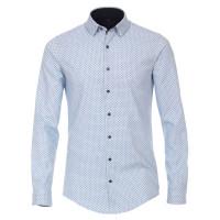 Redmond SLIM FIT Hemd PRINT hellblau mit Kent Kragen in schmaler Schnittform