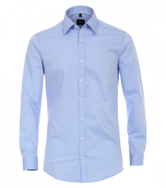 Venti Hemd BODY FIT UNI POPELINE hellblau mit Kent Kragen in schmaler Schnittform