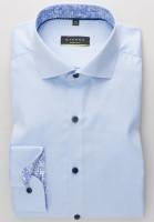 Eterna Hemd SUPER SLIM TWILL hellblau mit Hai Kragen in super schmaler Schnittform