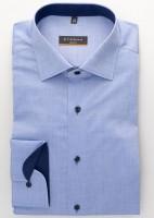 Eterna Hemd SLIM FIT UNI STRETCH mittelblau mit Classic Kent Kragen in schmaler Schnittform
