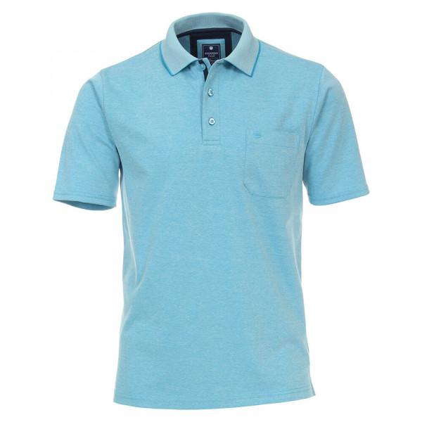 Redmond Poloshirt türkis in klassischer Schnittform