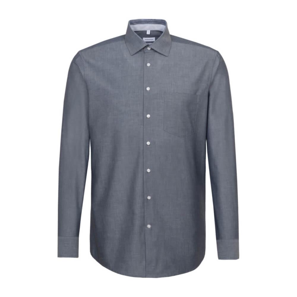 Langarm Camicia Formale Uomo Seidensticker Einfarbiges Hemd mit Kent-Kragen Hohem Tragekomfort und Struktur X-Slim Fit