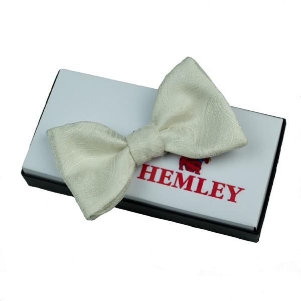 Hemley Fliege creme gemustert