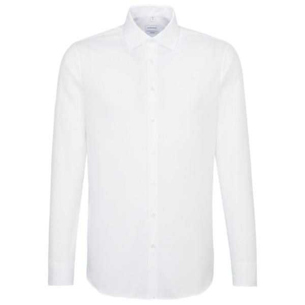 Seidensticker SHAPED Hemd STRUKTUR weiss mit Business Kent Kragen in moderner Schnittform