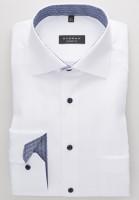 Eterna Hemd COMFORT FIT STRUKTUR weiss mit Classic Kent Kragen in klassischer Schnittform