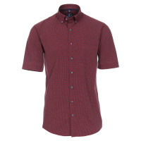 Redmond Hemd REGULAR FIT UNI POPELINE rot mit Button Down Kragen in klassischer Schnittform