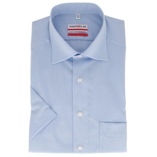 Marvelis MODERN FIT Hemd CHAMBRAY hellblau mit New Kent Kragen in moderner Schnittform