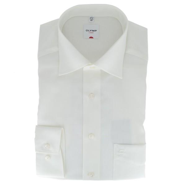 Olymp Luxor comfort fit Hemd beige mit New Kent Kragen in klassischer Schnittform