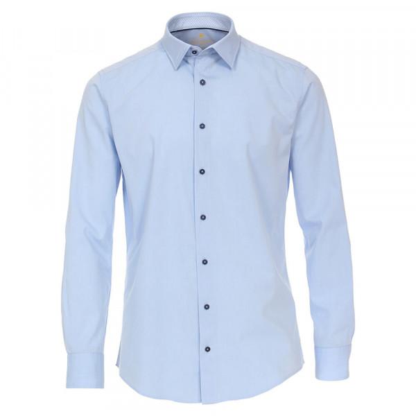 Redmond Hemd MODERN FIT UNI STRETCH hellblau mit Kent Kragen in moderner Schnittform