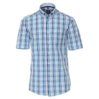 Redmond COMFORT FIT Hemd UNI POPELINE hellblau mit Button Down Kragen in klassischer Schnittform