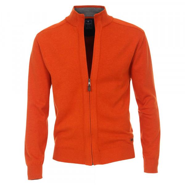 Redmond Strickjacke orange in klassischer Schnittform
