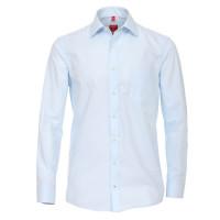 Redmond COMFORT FIT Hemd UNI POPELINE hellblau mit Kent Kragen in klassischer Schnittform