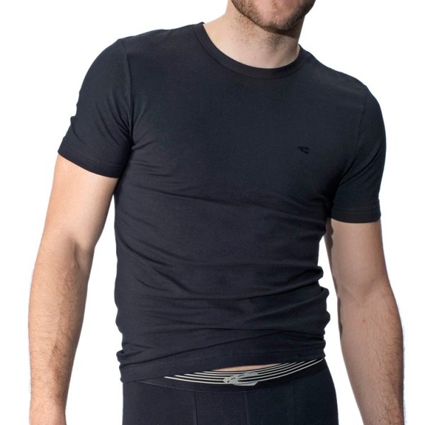 "Camel Active ""CA UNDERWEAR 20"" black t-shirts in a double pack"