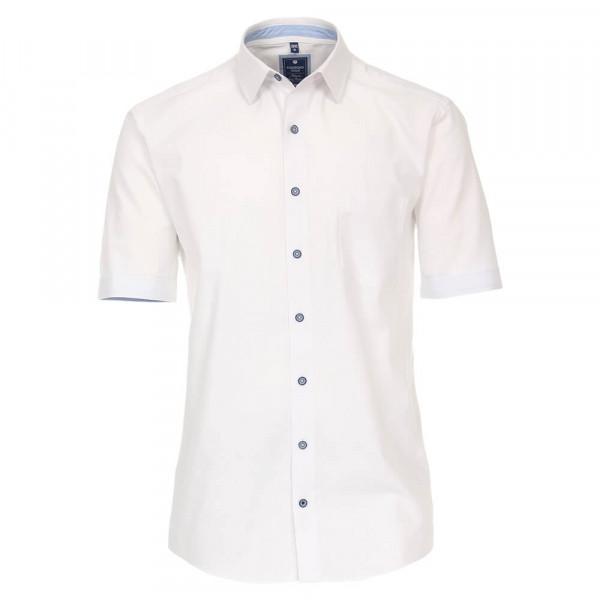 Redmond Hemd REGULAR FIT STRUKTUR weiss mit Kent Kragen in klassischer Schnittform