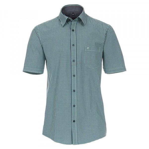 CASAMODA Hemd COMFORT FIT UNI POPELINE grün mit Kent Kragen in klassischer Schnittform