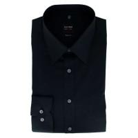 OLYMP Level Five body fit Hemd UNI POPELINE schwarz mit New York Kent Kragen in schmaler Schnittform