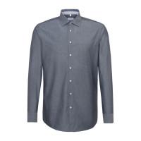 Seidensticker Hemd REGULAR CHAMBRAY dunkelblau mit Business Kent Kragen in moderner Schnittform