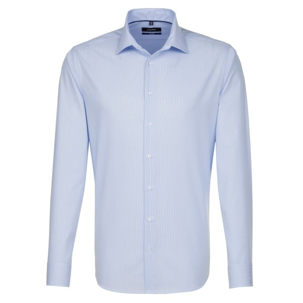 Seidensticker SHAPED Hemd OFFICE hellblau mit Business Kent Kragen in moderner Schnittform