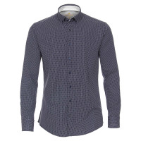 Redmond Hemd MODERN FIT UNI STRETCH mittelblau mit Button Down Kragen in moderner Schnittform